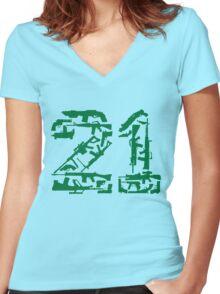 21 Guns Women's Fitted V-Neck T-Shirt