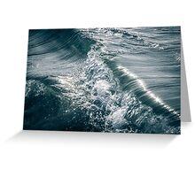 Flowing Waves in the Ocean Greeting Card