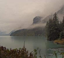 Chilkoot Lake in the Rain & Mist by Yukondick