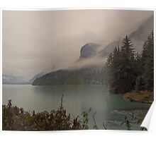 Chilkoot Lake in the Rain & Mist Poster