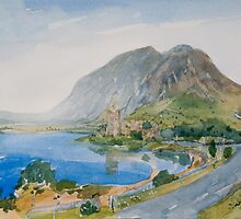 castle mountain loch, fantasy by Peter Lusby Taylor
