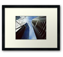Skyscrapers and the sky Framed Print