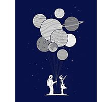 Between planets and balloons. Photographic Print