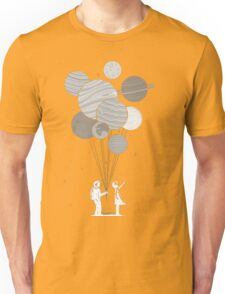 Between planets and balloons. Unisex T-Shirt