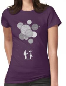 Between planets and balloons. Womens Fitted T-Shirt
