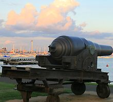 The guns of Hobson's Bay,Victoria. by elphonline
