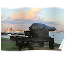 The guns of Hobson's Bay,Victoria. Poster