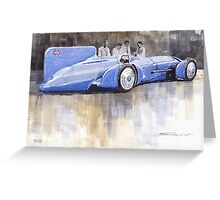 Bluebird world land speed record car 1931 Greeting Card