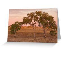 Outback Moonrise - Western Queensland Greeting Card