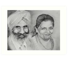 Sikh Couple No.1 Art Print