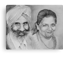 Sikh Couple No.1 Canvas Print