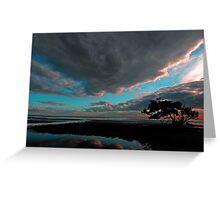 Sunrise At Nudgee Beach. Brisbane, Queensland, Australia. (4) Greeting Card