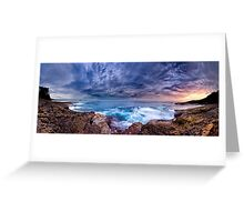 Dawn Spectrum (Borderless) - Sunrise @ Bannister Point, Mollymook Greeting Card