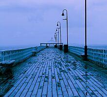 rain pier by blackspark