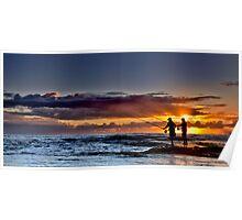 Fishing For The Sun (Borderless) Poster