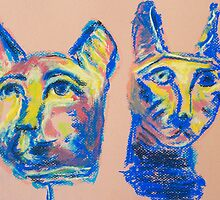 Cats (pastel) by Niki Hilsabeck