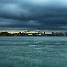 Sydney Harbour Bridge and Stormy Weather by Raoul Isidro