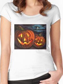 Jack-O-Lanterns Women's Fitted Scoop T-Shirt
