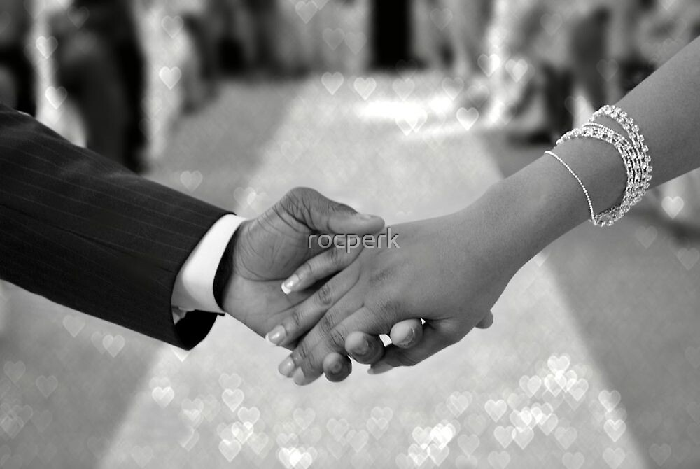 Newlyweds Hand in Hand by rocperk
