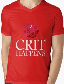 Crit Happens geek funny nerd Mens V-Neck T-Shirt