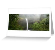 Dreary Waterfall Greeting Card
