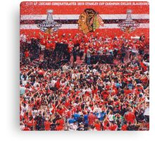 2015 Chicago Blackhawks Championship Rally Canvas Print
