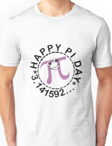 Cute happy pi day geek funny nerd Unisex T-Shirt