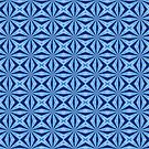 Blue X Pattern by gretzky