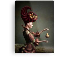Madam Fruit and the levitating pear Metal Print