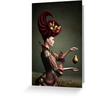 Madam Fruit and the levitating pear Greeting Card