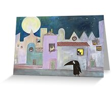 city of cats Greeting Card
