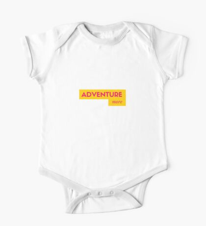 adventure more yellow  (pls contact for customization of colours) One Piece - Short Sleeve