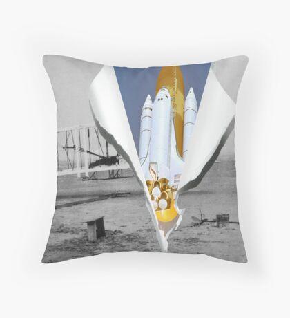 Wings of Man Throw Pillow