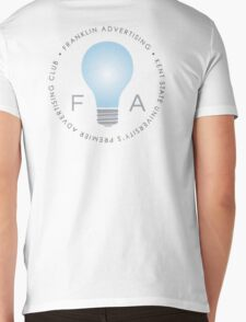 Franklin Advertising Logo (On White) Mens V-Neck T-Shirt