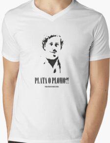 """Pablo Escobar """"Plata o Plomo"""" Mens V-Neck T-Shirt"""