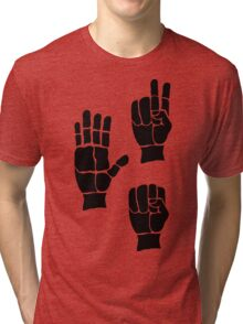 Scissors Paper Rock Tri-blend T-Shirt