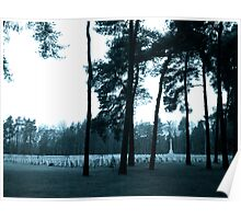 A Winters Day in Brookwood Cemetery Poster
