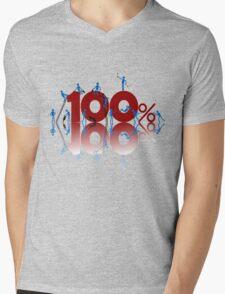 100% Mens V-Neck T-Shirt