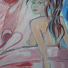 Emerging in Pink Detail by Anthea  Slade