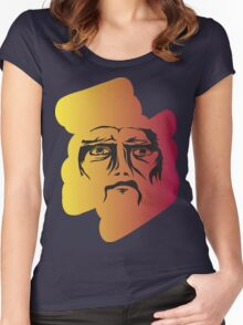 Colourful Angry Face Women's Fitted Scoop T-Shirt
