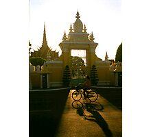 palace gate, phnom penh, cambodia Photographic Print