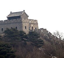 Guard house along the Great Wall by Phillip Wayne