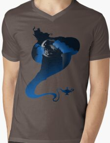 The Genie and the Moon  Mens V-Neck T-Shirt