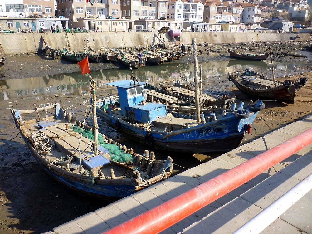Fishing Boats: Tsing Dao, China by Phillip Wayne