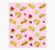 Pastry Print Pink Unisex T-Shirt