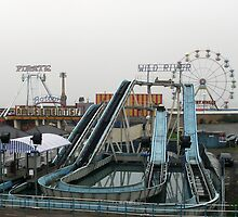 The Wild River, Big Wheel & Pirate Ship - Skegness by Stephen Willmer