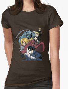 fullmetal alchemist edward alphonse elric hawkeye riza roy mustang havoc jean anime manga shirt Womens Fitted T-Shirt