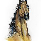bay arabian horse portrait by tarantella