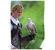 girl with falcon Poster