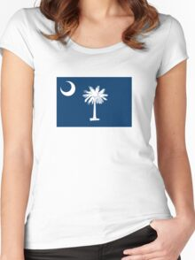 South Carolina State Flag Women's Fitted Scoop T-Shirt